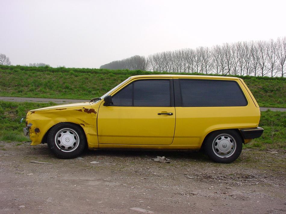 VW Polo met schade